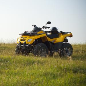 Yellow ATV