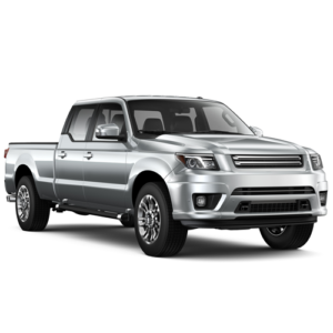 Silver Pickup Car